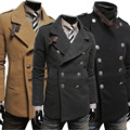 2016 New Style Woollen Clothes Winter Men's Business Formal Jacket  Casual Jacket Boutique Outwear Coat  Free Shipping 8M0242