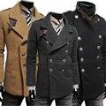 2016 Novo Estilo De Lã Roupas de Inverno Jaqueta Casual Dos Homens de Negócios Formal 8M0242 Boutique Jaqueta Casaco Outwear Frete Grátis