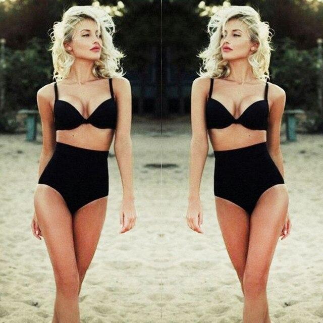 04cd818f69e97 2018 New Summer Black Swimsuits Cutest Retro Swimsuit Sexy Swimwear Vintage  Pin Up High Waist Bikini Set Maillot de bain Femme