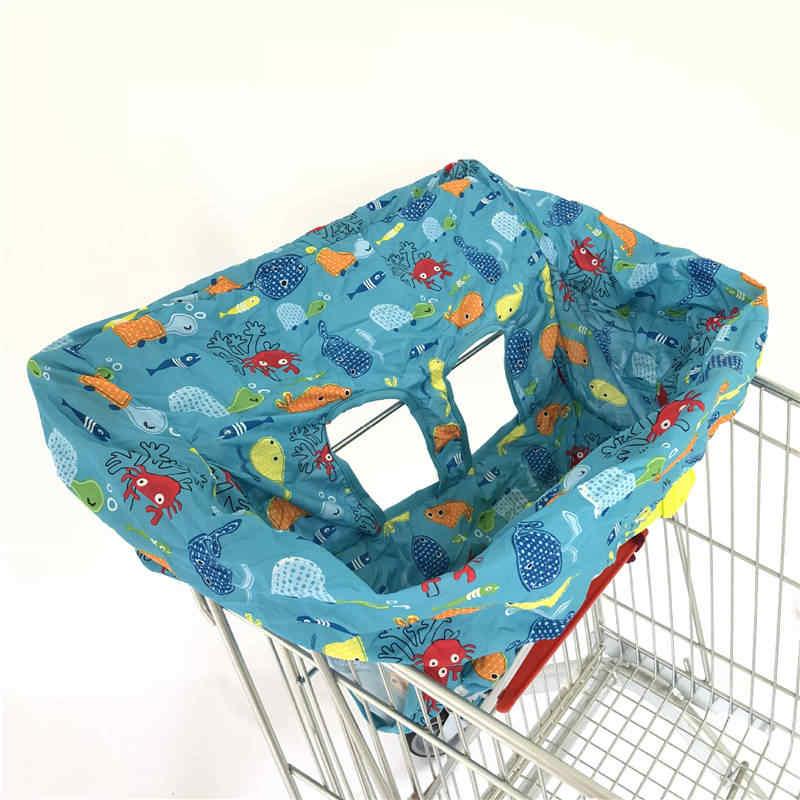 ทารกซูเปอร์มาร์เก็ตรถเข็นช็อปปิ้งพับได้เด็กรถเข็น Pad แบบพกพาที่นั่งเด็กทารกเก้าอี้ป้องกันเบาะ