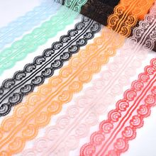 10yards lace ribbon net trimmings embroidered african fabric 45mm wide for sewing DIY home wedding clothing decoration