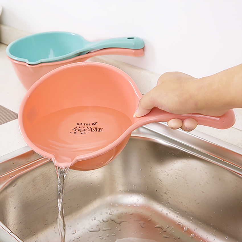 Plastic Bathing Ladle Spoons Kitchen Accessories Bathroom Thick Water Scoop Cup Baby Kids Shampoo Bath Spoon Home Essential