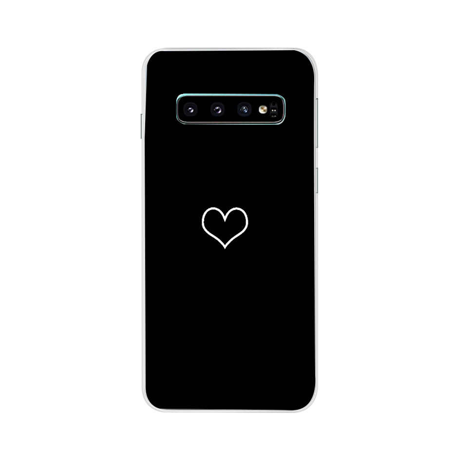 Dành Cho Samsung Galaxy Samsung Galaxy S10 Ốp Lưng S10Plus Ốp Lưng Màu Hồng Dễ Thương Silicone TPU Bao Điện Thoại S10 E Ốp Lưng Trên Cho Samsung S10 plus G975F S 10 Ốp Lưng