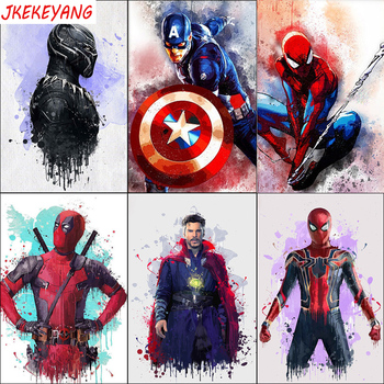 """Full Square Drill 5D DIY Diamond Painting """"Watercolor Marvel Superhero"""" Embroidery Cross Stitch Mosaic Home Decor Y3043"""