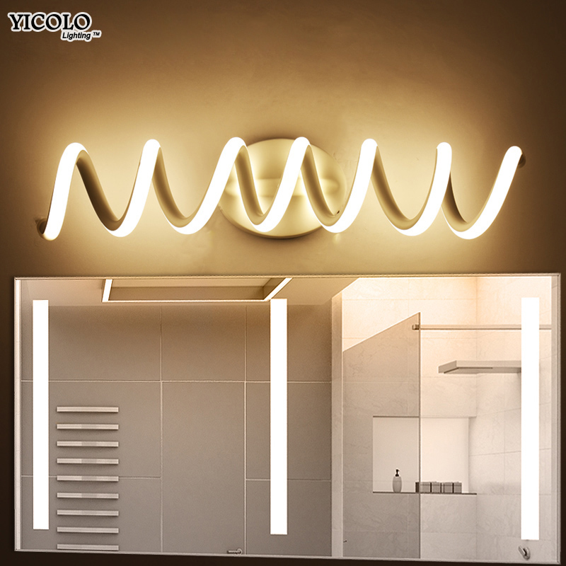 Modern LED mirror light wall lamp Sconce bathroom aluminum indoor Lighting Fixture Wall lights vanity home lamp fixtures все цены