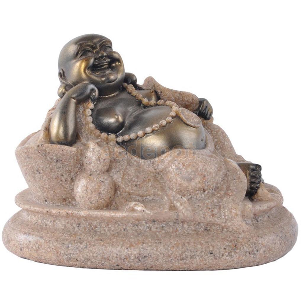 The Hue Sandstone Happy Maitreya Buddha Deity Statue Hand Carved Figurine #3The Hue Sandstone Happy Maitreya Buddha Deity Statue Hand Carved Figurine #3