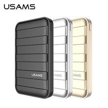 Banco do Poder Portátil de Emergência para Iphone Usams 6000 e 10000 e 20000 MAH 5 V 2A Saída Dual USB Powerbank Carregador Samsung Carregamento