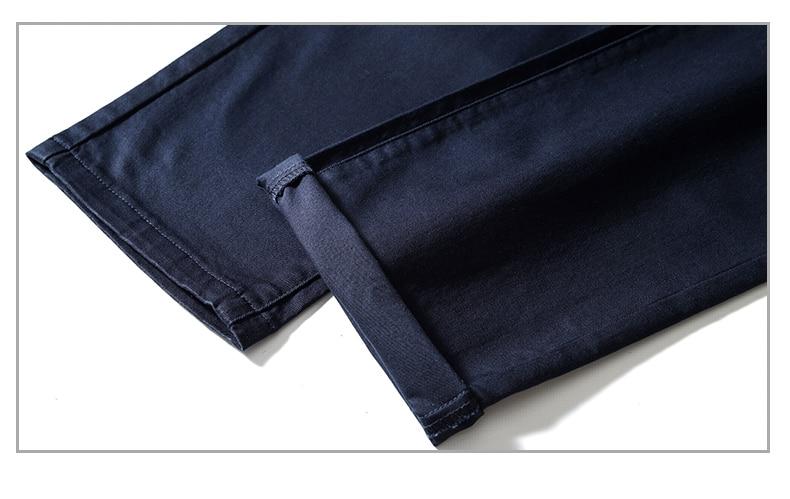HTB1tX.vah2rK1RkSnhJq6ykdpXa0 4 Colors Casual Pants Men Classic Style 2019 New Business Elastic Cotton Slim Fit Trousers Male Gray Khaki Plus Size 42 44 46