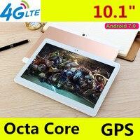 Android 7.0 nucleo Octa 10.1 pollice T900 3G 4G LTE tablet pc 1920*1200 IPS HD 8.0MP 4 GB di RAM 128 GB di ROM Bluetooth GPS Mini tablet