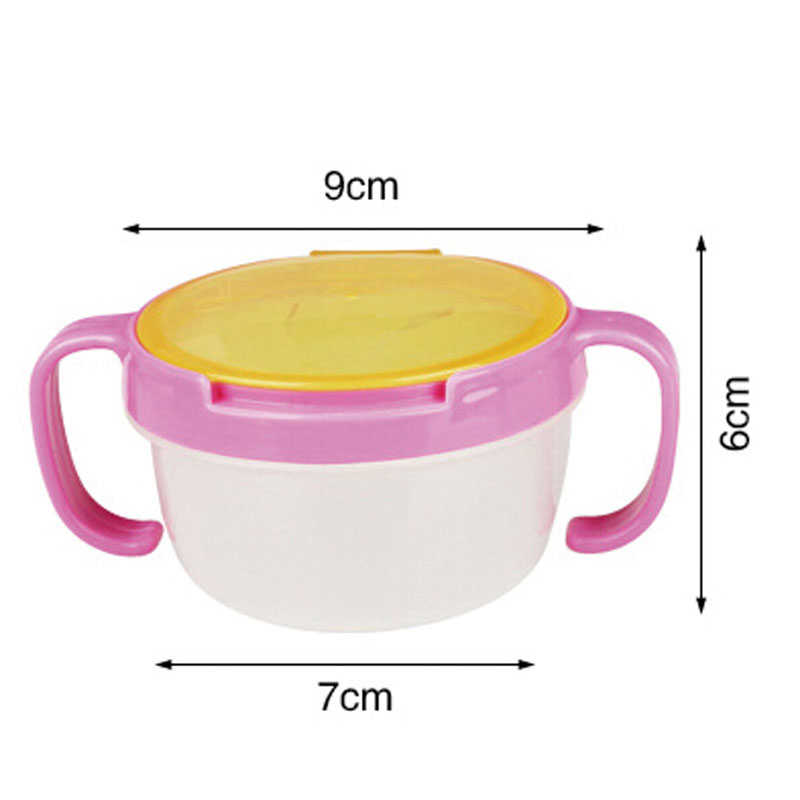 Toddler Baby Kids Anti-Spill Snack Candy Bowl Cup Milk Water Storage Container