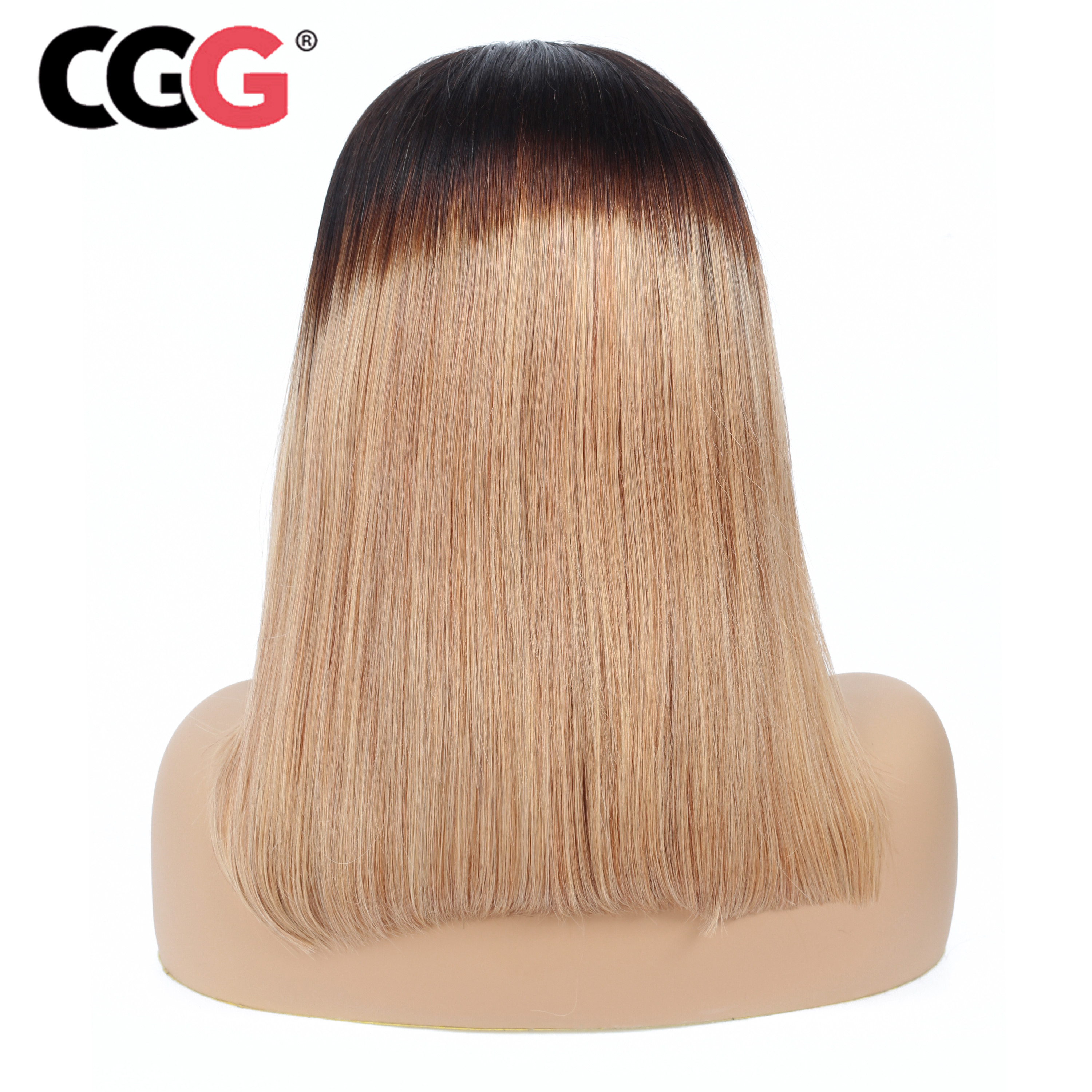 Lace Front Wigs Cgg 1b /27 Ombre 13*4 Lace Front Wig Pre Plucked Malaysian Straight Lace Frontal Human Hair Short Bob Wig Remy Hair Consumers First Hair Extensions & Wigs