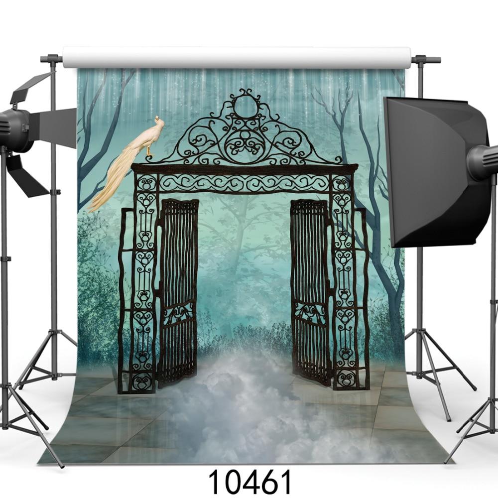 Photography Background for Baby Photo Studio Children Wedding Outdoor Gate Door Vinyl Photographic Backdrop for Photo Shooting