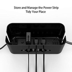 Cable Management Box Power Strip Cover with Phone Stand 12.2 X 5.4 X 5.1 inches Cord Organizer Box Wires Hider