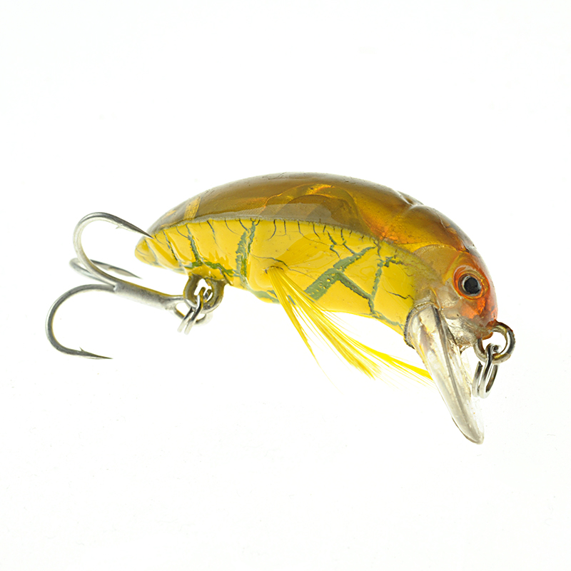 2017 Top Grade Japan Beetle Fishing Lure Crankbait Freshwater Pesca Isca Artificial Insect Bait Wobbler Fishing Tackle 3.5cm 4g