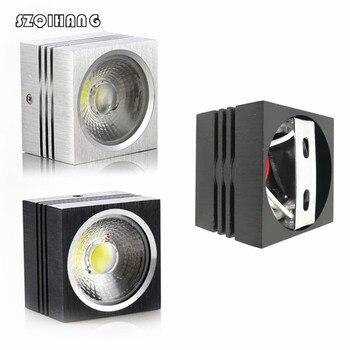 COB светодиодные светильники 7 Вт/10 Вт/12 Вт/15 Вт поверхностного монтажа с регулируемой яркостью светодиодные потолочные лампы точечного осве...