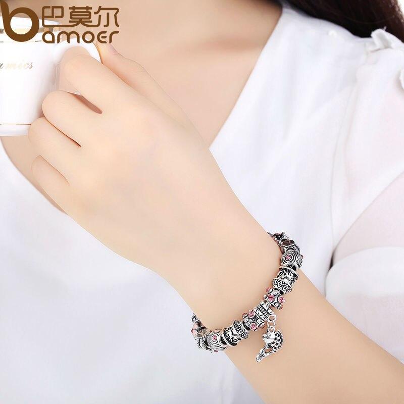 Прямая поставка рыба шарм Chamilia браслет 925 тибетских серебряных муранского стекла для женщин мода европейском стиле PA1236