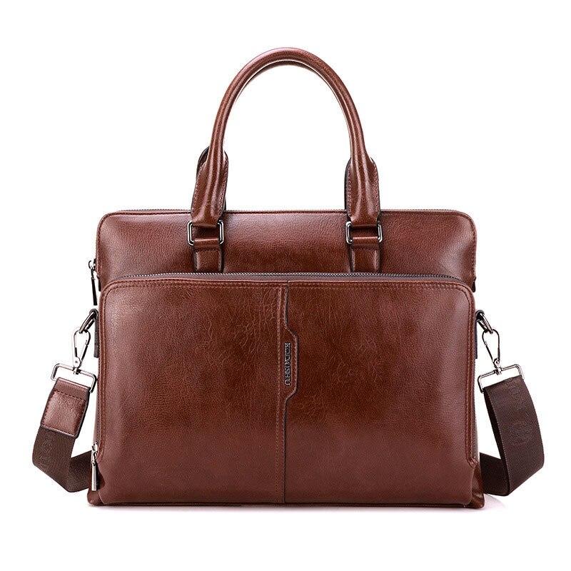À Couleur D'affaires En noir Random De Brown 3 Pu Main handbags Sac Ordinateur Option Red kaki Hommes YqE8Sxw1q