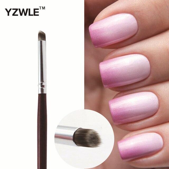 Wuf 1 Pcs Professional Nail Art Brush Manicure Gel Polish Gradual Color Blooming Drawing