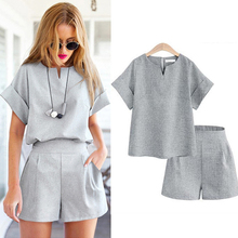 Plus size women 2 piece set top and pants 2018 runway 3xl 4xl 5xl large tracksuit suits sportswear mini Shorts with a T-shirt
