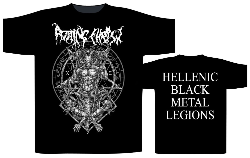 Vintage Tees Funny O Neck Rotting Christ 39 Hellenic Black Metal Legions Short Sleeve Mens T Shirt in T Shirts from Men 39 s Clothing