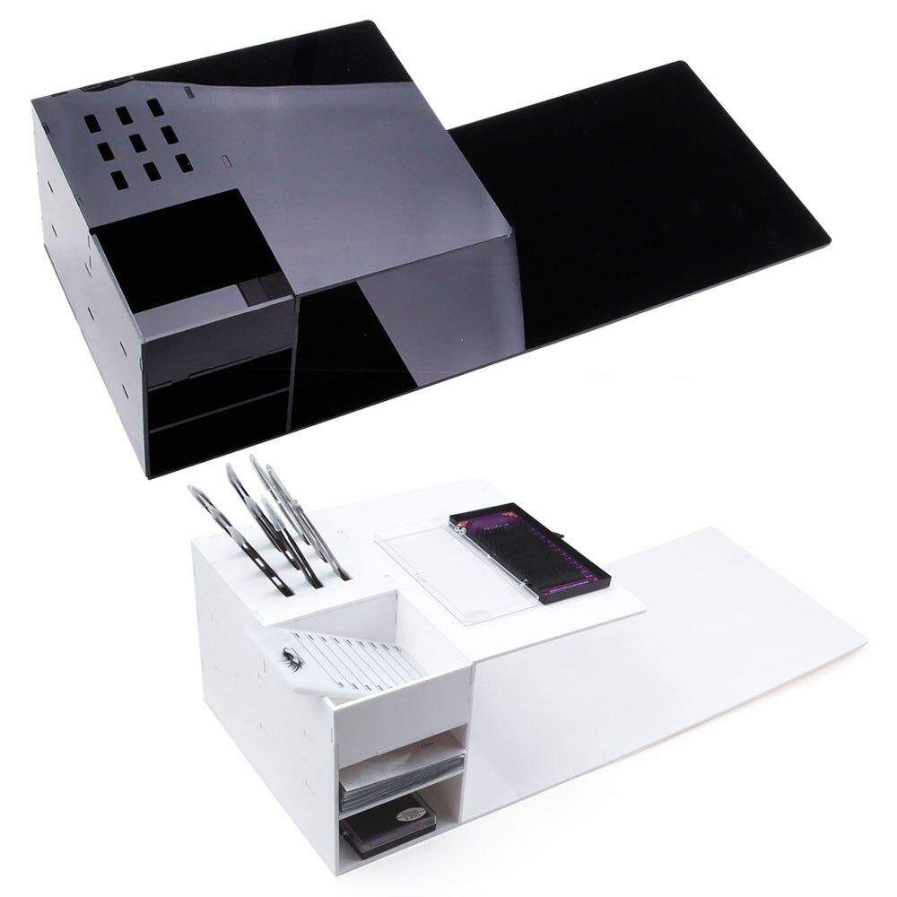 Grafting Eyelash Pillow Memory Foam Neck Lash Pillow with Acrylic Shelf Organizer Stand Eyelash Extension Salon Makeup Tools