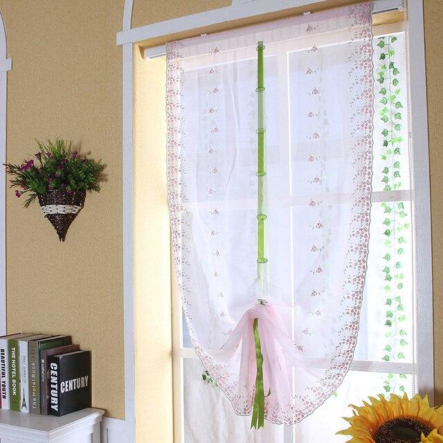 2018 Römische Vorhänge Sheer Küche Tür Fenster Vorhang 1 Stück