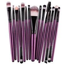 MAANGE 15 pcs Makeup brushes Set Professional Cosmetic Eyeshadow Foundation Lip Brush Maquiagem Purple