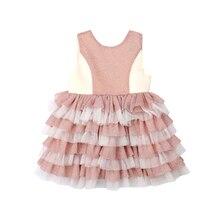 805960256e Bebé niño niña vestido de fiesta brillante gradiente sin mangas Halter  vestido de Tutu de cumpleaños de las niñas vestido de pri.