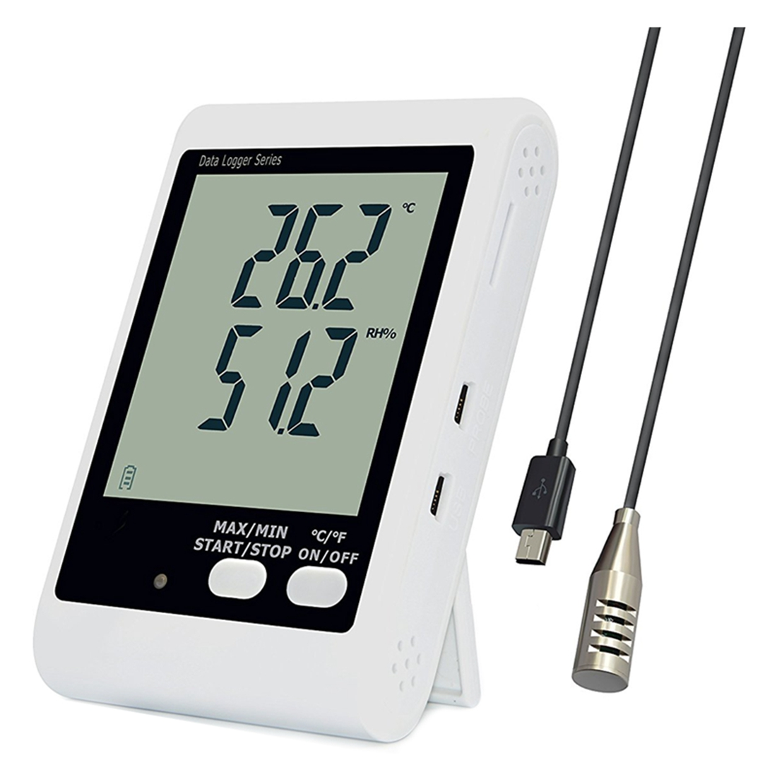 YOWEXA Temperature and humidity loggers with Backlit LCD Display and Sound-light Alarm, 3m External Probe Included free shipping and low temperature alarm 634f 220v electron temperature alarm sound and light alarm thermostats