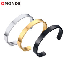 Black Gold Silver Color Stainless Steel Bacelets & Bangles 8mm Wide 59mm 64mm Di