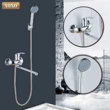 XOXO 180 градусов Поворотный смеситель для душа, смеситель для душа, латунный основной кран для ванной, душ 9990B-1