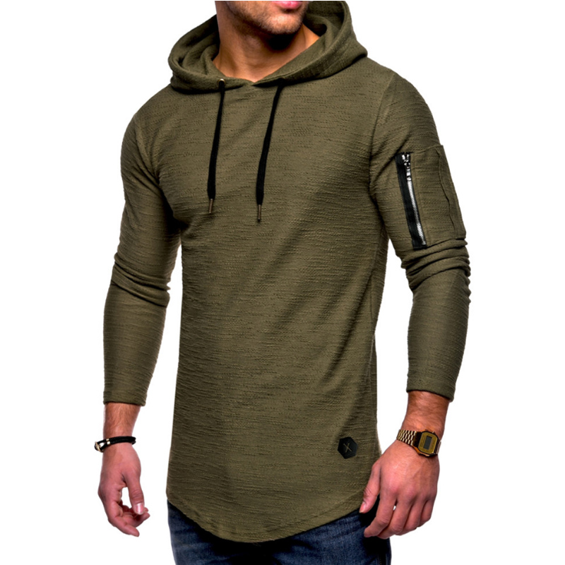 2018 herbst Neue Mode Mens Hoodies Marke Männer Einfarbig Mit Kapuze Sling Sweatshirt Herren Hoodie Hip Hop Hoodie XXXL