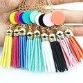 Monogram Blank Enamel Disc Long Chain Pendant Tassel Necklace for Women Custom Personalized Jewelry