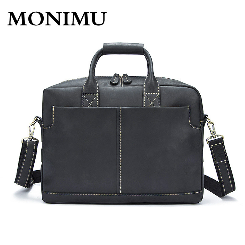 High Quality Genuine Leather Men Business Shoulder Bag Famous Brand Cross Body Messenger Bags Cowhide Handbag Tote Briefcase New