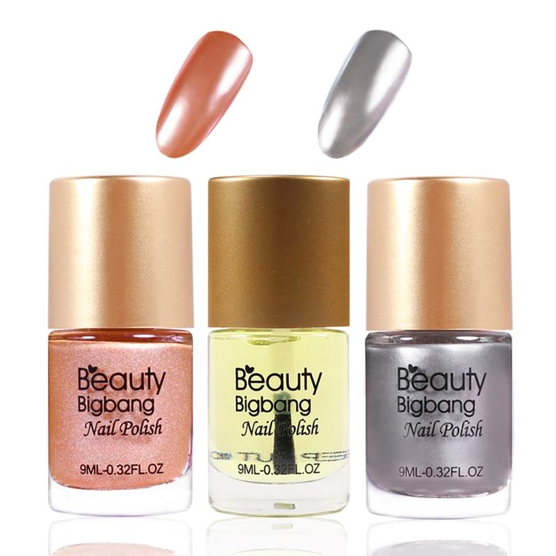 Metallic Nail Varnish Sets: Aliexpress.com : Buy BeautyBigBang 3 Bottles Mirror Nail