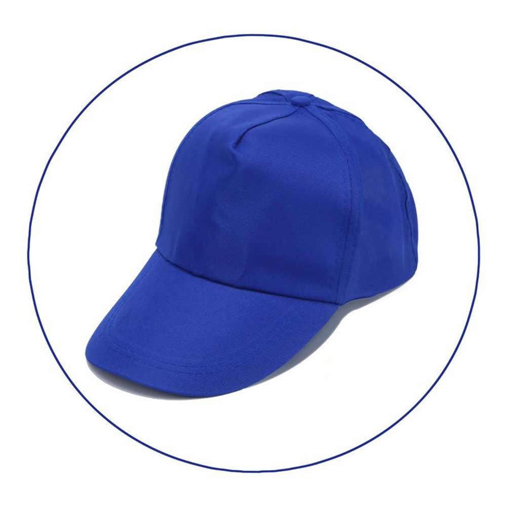 1 PC Ajustável Boné de beisebol das Mulheres Dos Homens de Cor Sólida Hip Hop Chapéus Casual Ao Ar Livre de lazer chapéus Moda Snapback Verão chapéu de sol