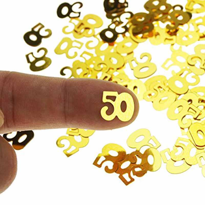 number Confetti balloon 30 40 50 60 30th 40th <font><b>50th</b></font> 60th <font><b>Birthday</b></font> <font><b>party</b></font> Anniversary Tabletop Table Scatter centerpiece Decoration image