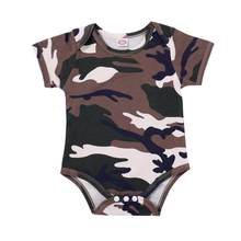 2018 New baby rompers Newborn Infant Baby girls Summer clothes Camouflage Rompers Jumpsuit Outfits Clothes C622(China)