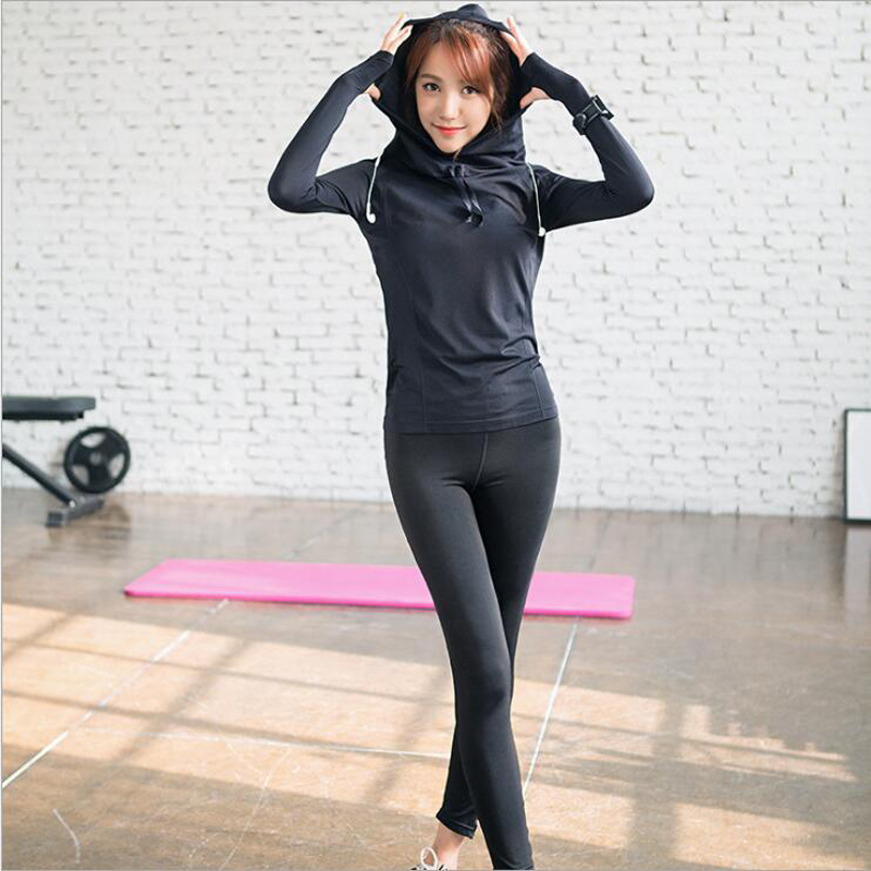 2017 Top Quality Women Sports And Leisure Suit Summer New Quick-drying Breathable Trousers Long-sleeved Yoga  Running Clothes [free shipping] 2015 new arrival fashion female 1 4 years child love baby cashmere long sleeved jacket trousers leisure suit