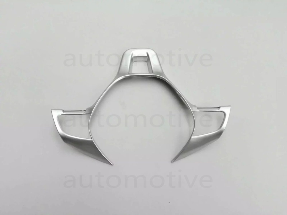 New Steering Wheel Decorative Sequins Cover Trim Sticker Silver For 2017 Passat B8 lx 4846 universal key ignition ring decorative sticker for car silver