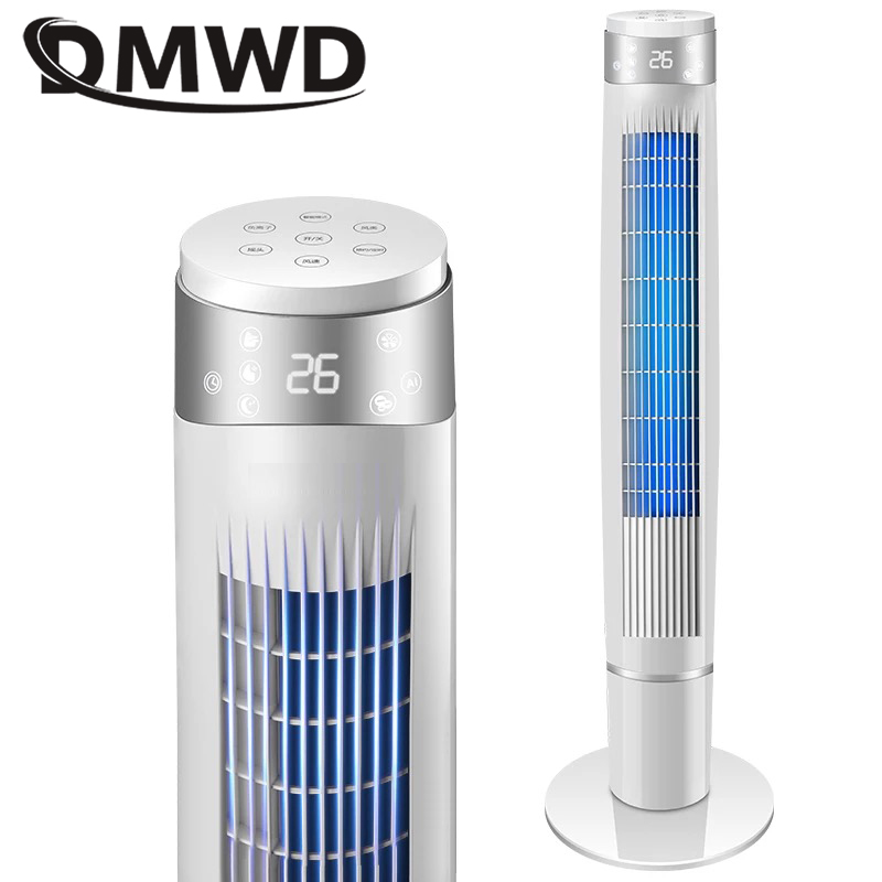 DMWD Household Electric cooling fans Tower Floor Stand cooler Remote Vertical Bladeless Timing Air Conditioning Fan ventilatorDMWD Household Electric cooling fans Tower Floor Stand cooler Remote Vertical Bladeless Timing Air Conditioning Fan ventilator