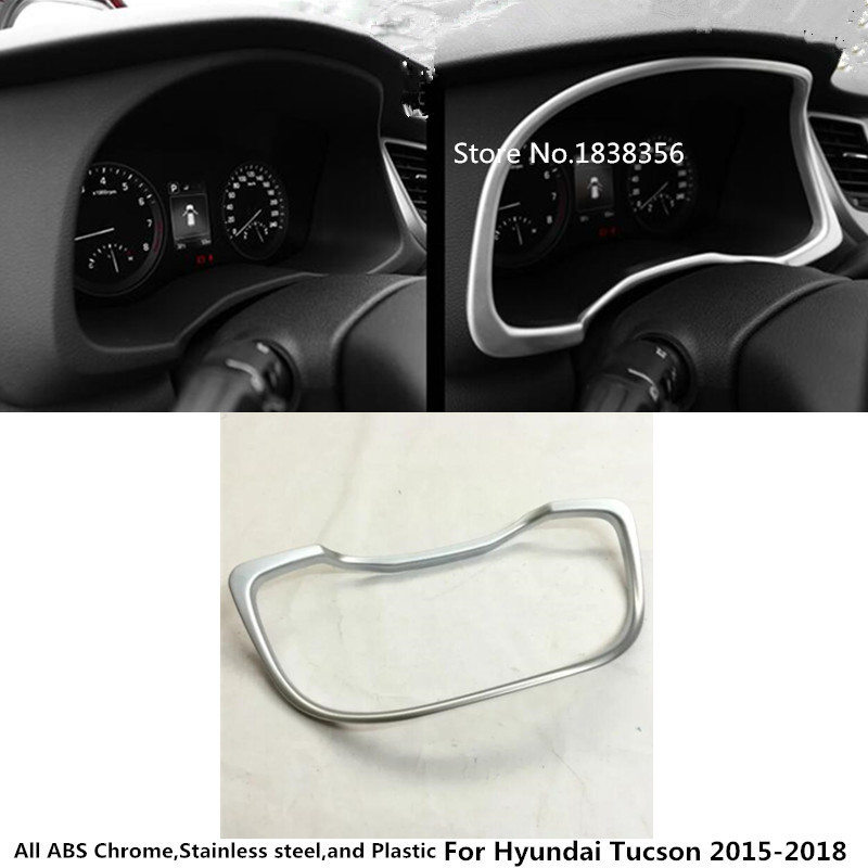 Red Car Interior Dashboard Instrument Panel Decoration Ring Cover Trim for Ford F150 2015 2016 2017 2018