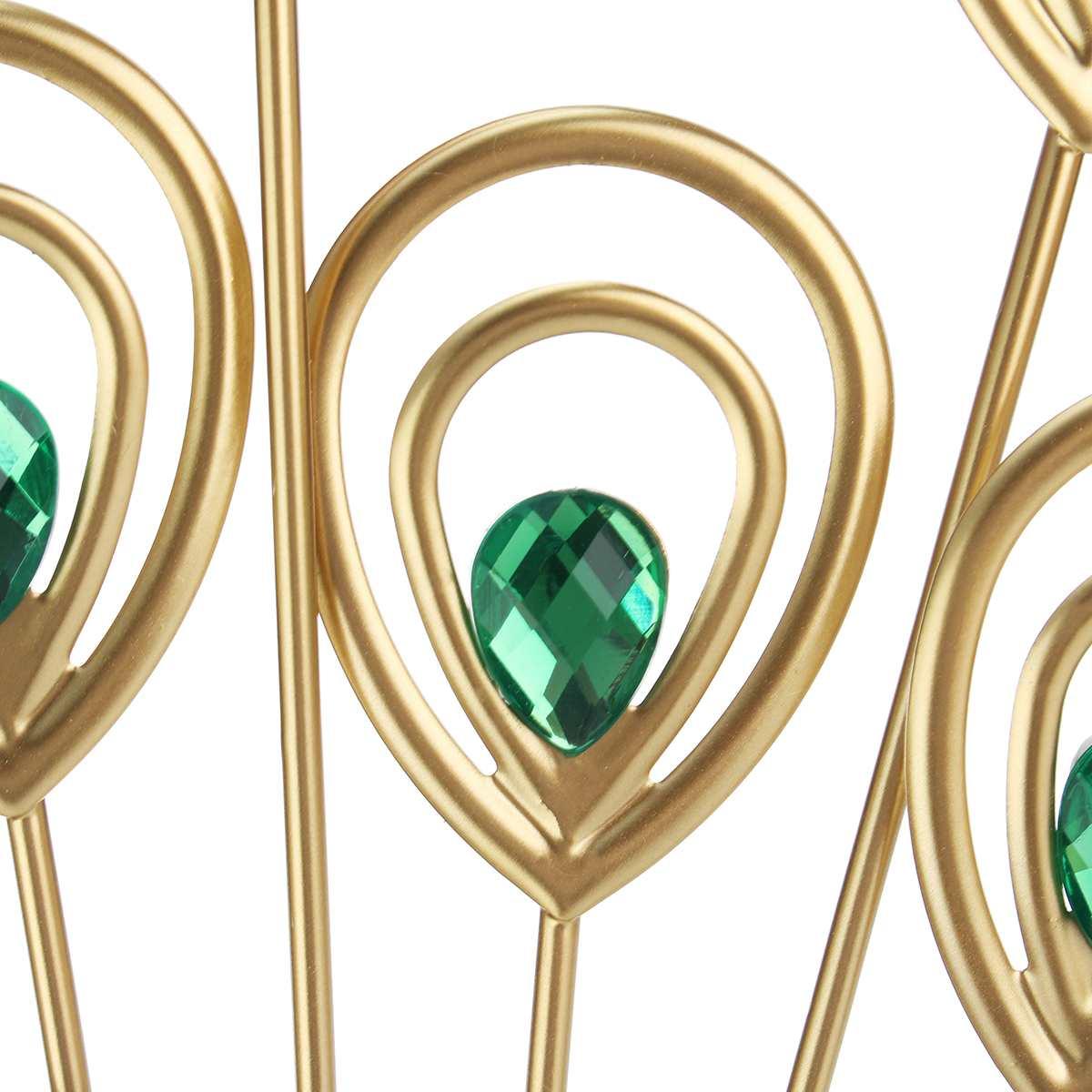 Большие 3D золотые алмазные настенные часы Павлин металлические часы для дома гостиной украшения DIY часы ремесла украшения подарок 53x53 см