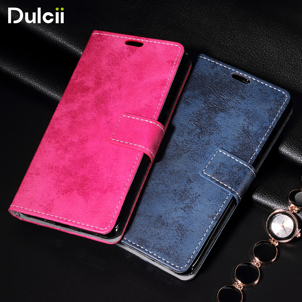For Xiaomi Redmi Note 4X Leather Cases Retro Style Leather Wallet Stand Cell Phone Case For