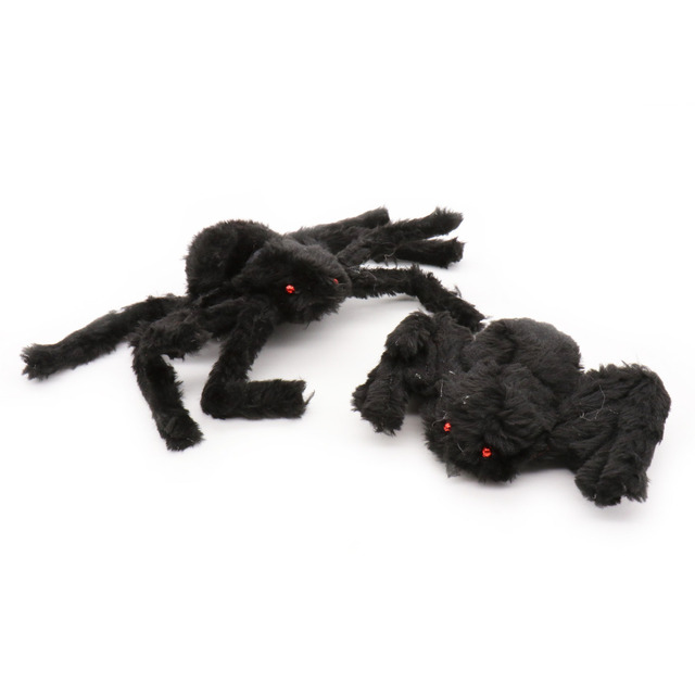 30cm horrible fake black plush wire spider ghost party Halloween decoration cloth spider cosplay props DIY decorations supplies