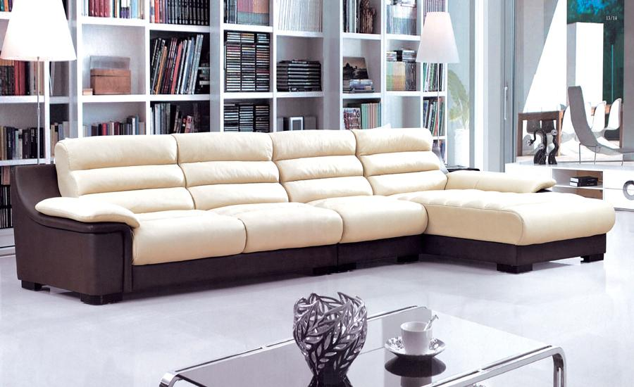 Free Shipping 2013 New Design Top Grain Leather L Shaped Multi  Combination  Sofa With Chaises