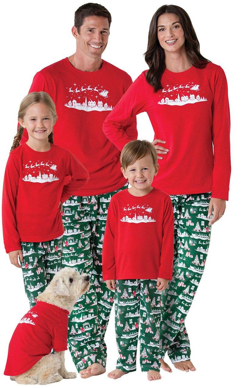 family matching outfits christmas pajamas set kids adult