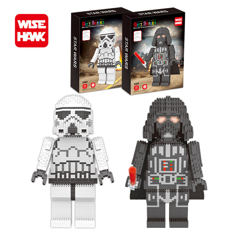 Wisehawk American Anime Stormtrooper Nanoblock Micro Building Blocks Bricks Diy Model Figures Bricks Toys For Kids With Box fdp047an08ao to 220