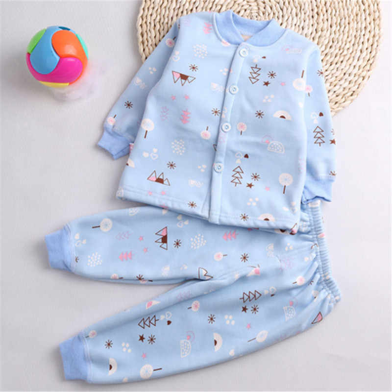 Одежда для сна для новорожденных; весенне-осенний хлопковый костюм для маленьких девочек с героями мультфильмов + штаны; комплект из 2 предметов для маленьких мальчиков; мягкая одежда для детей