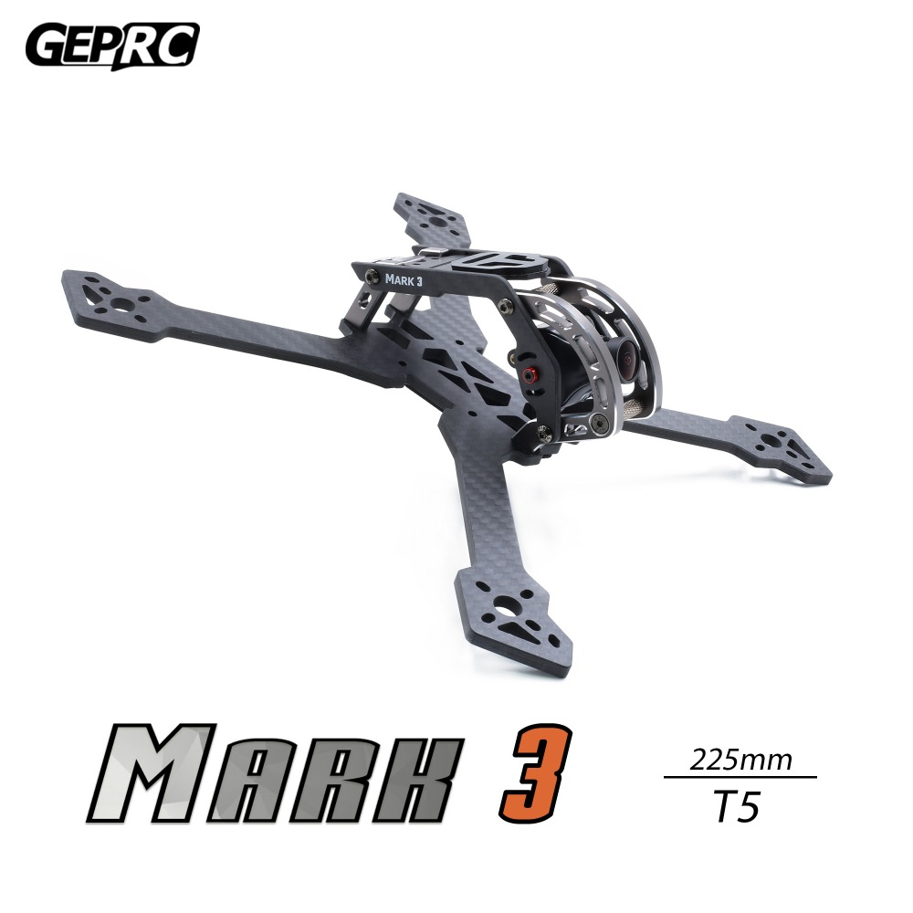 GEPRC Mark3 T5 225mm Carbon Fiber Frame for Freestyle FPV RC Drone